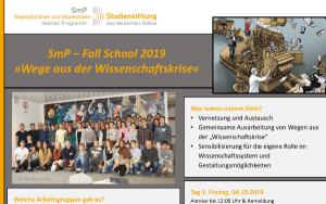 Fall School 2019 Ways out of the Scientific Crisis Stefan T. Siegel
